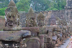 Gate to Angkor Wat monsoon season Stock Photo