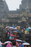 Gate to Angkor Wat monsoon season Royalty Free Stock Photo