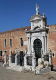 Gate to the Arsenal in Venice, Italy royalty free stock photography