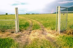 Gate in to beautiful nature royalty free stock image