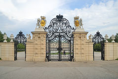 Gate to Belvedere garden Royalty Free Stock Photo