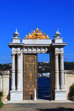 Gate to the Bosphorus, Dolmabahçe Palace - Istanbul. The royal golden gate to the Bosphorus in Dolmabahçe Palace, Istanbul Royalty Free Stock Photos