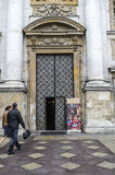 Gate to The cathedral Stock Photography