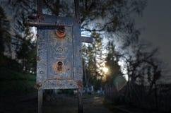 Gate to the cemetery. Open gate to the cemetery Stock Photos