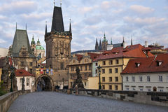 Gate to Charles Bridge Royalty Free Stock Image
