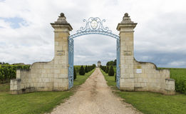 Gate to Chateau Balestard Stock Images