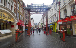 Gate to Chinatown in London Stock Photography