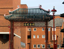 Gate to Chinatown in London Soho Royalty Free Stock Photography