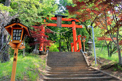Gate to Chureito Pagoda, Arakura Sengen Shrine, in Japan Stock Photos