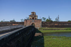 The gate in to citadel emperors palace, and bridge over Imperi stock photo