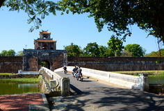 The gate to the Citadel. Hué. Vietnam Royalty Free Stock Photography