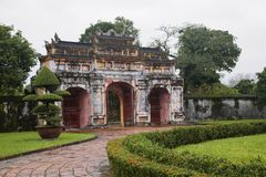 The Gate to the Citadel of the Imperial City in Hue, Vietnam stock image