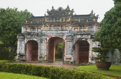 The Gate to the Citadel of the Imperial City in Hue, Vietnam royalty free stock photography