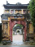The Gate to the Citadel of the Imperial City in Hue, Vietnam. The old gate to the Citadel of the Imperial City in Hue, Vietnam stock image