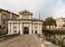 Gate to Citta Alta in Bergamo Stock Image