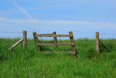 Gate to the countryside Royalty Free Stock Image