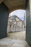 Gate to court yard of Suleymaniye Mosque in Istanbul 2015 Stock Photography