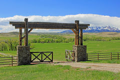 Gate to crazy mountains Royalty Free Stock Photos