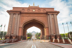 Gate to the Emirates Palace hotel in Abu Dhabi Royalty Free Stock Images
