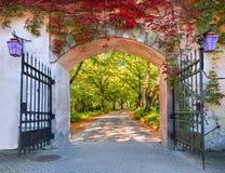 Gate to the fairyland, autumn, Europe Stock Photo