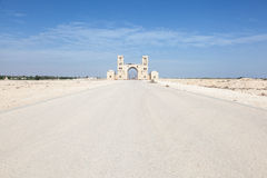 Gate to a farm in the desert of Qatar, Middle East Royalty Free Stock Photo