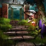Gate to forgotten garden Stock Photography