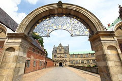 Gate to Frederiksborg castle, Denmark Royalty Free Stock Image