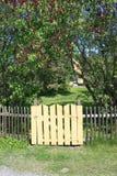 Gate to the garden. A gate to a beautiful garden in spring time Stock Photos
