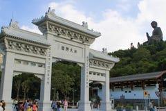 Gate to Giant buddha Stock Photography