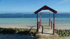 Gate to the heaven on the beach, Samoa royalty free stock photography