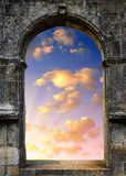 Gate to heaven. With the setting sun Royalty Free Stock Photography