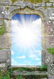 Gate to heaven. With sunny sky Stock Photo