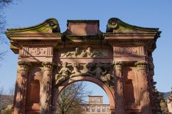 Gate to Heidelberg Castle, Germany Stock Images