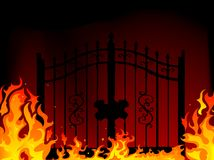 Gate to hell. Abstract  illustration Royalty Free Stock Photo