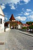 Gate to the historic town. Český Krumlov. Czech Republic Royalty Free Stock Photo