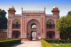 Gate to Itmad-Ud-Daulah's Tomb (Baby Taj) at Agra, Uttar Pradesh, India Royalty Free Stock Photography