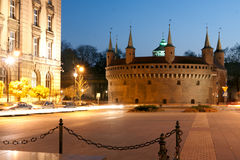 A gate to Krakow - barbican. Poland. Stock Images