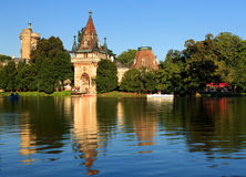 Gate to Laxenburg Water Castle Royalty Free Stock Photos