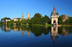 Gate to Laxenburg Water Castle Stock Images