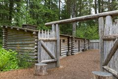 Gate to Log Camp at Fort Clatsop Royalty Free Stock Photos