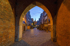 Gate to the Mariacka street in Gdansk Royalty Free Stock Photography