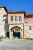 Gate to medieval orthodox monastery Stock Photography