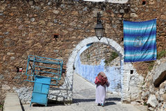 Gate to the medina of Chefchaouen Stock Photo