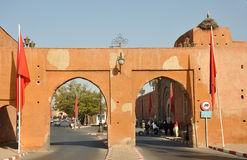 Gate to the medina, Marrakesh Royalty Free Stock Photo