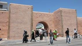 Gate to the medina in Rabat stock video