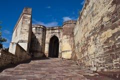 Gate to Meherangarh Fort Stock Image