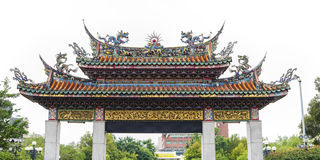 Gate To Mengjia Longshan Temple Stock Photo