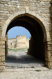 Gate to middle fortess bastion in old turkish stronghold,Ukraine Stock Photography