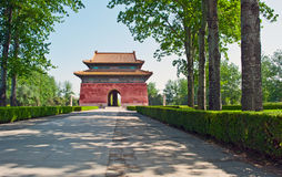Gate to the Ming Tombs, China Royalty Free Stock Image