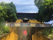 Gate to a monastery-Nanchang Buddha Temple Stock Photos
